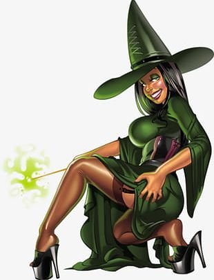 Green Witch PNG