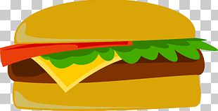 Hamburger Cheeseburger Hot Dog Fast Food French Fries PNG