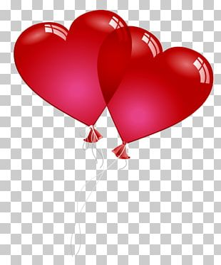 Valentine's Day Balloon Heart PNG