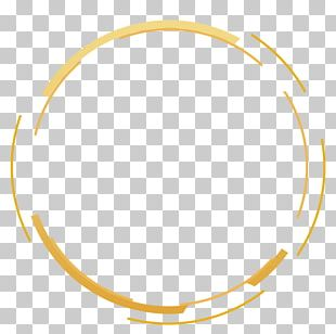 Yellow Simple Circle Border Texture PNG
