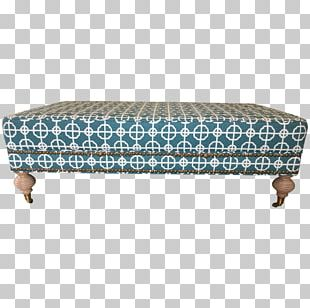 Foot Rests Couch Bench Rectangle Turquoise PNG