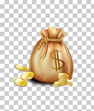 Gold Coin Bag PNG