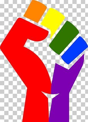 T-shirt Raised Fist Symbol Rainbow PNG