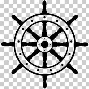 Ship's Wheel Boat PNG