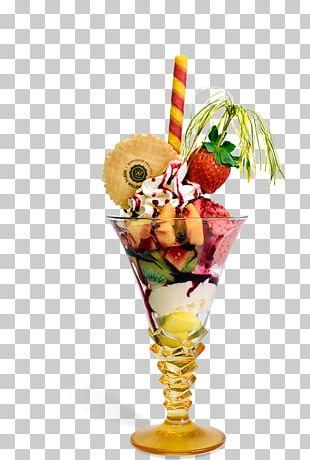 Sundae Cocktail Garnish Knickerbocker Glory Ice Cream Cones PNG