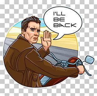 The Terminator Arnold Schwarzenegger Telegram YouTube Sticker PNG