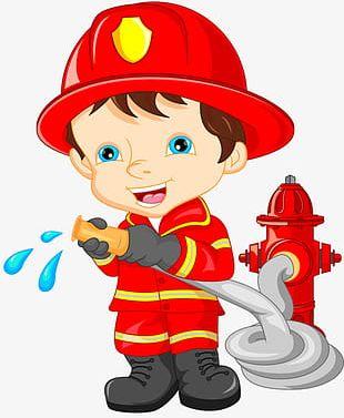 Cartoon Fireman PNG