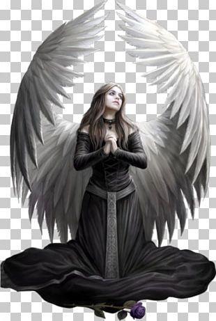 Fallen Angel Fantasy Prayer Fantastic Art PNG