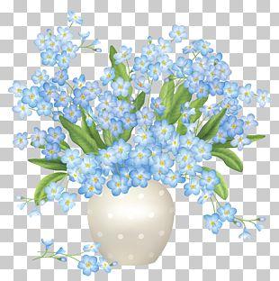 Flower Blue Vase PNG