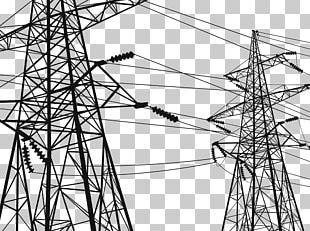 Electricity Transmission Tower High Voltage Electric Power Transmission Wire PNG