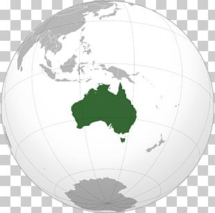 Australian English Map Globe Flag Of Australia PNG
