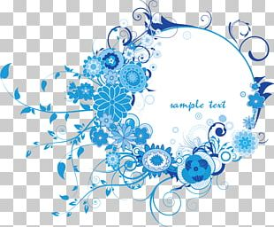 Texture Free Blue Border Buckle Material PNG