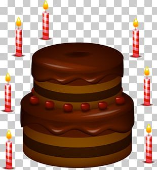 Chocolate Cake Birthday Cake Icing Layer Cake Cream PNG