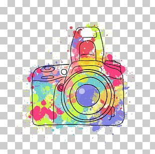 Camera Photography Photographer Watercolor Painting PNG