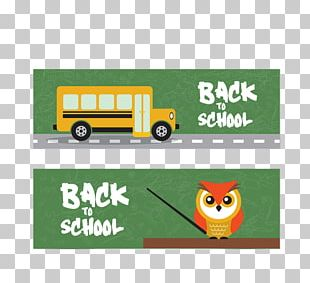 School Bus Illustration PNG