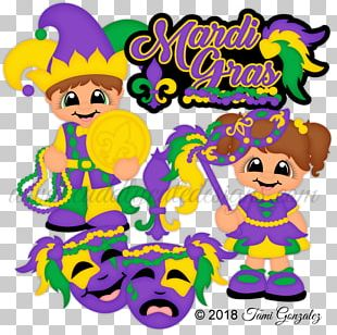 Mardi Gras Party Graphic Design PNG