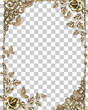 Border Frame Golden Frame PNG