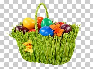 Easter Bunny Egg In The Basket Easter Basket PNG