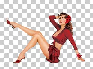 Pin-up Girl Retro Style Vintage Clothing PNG