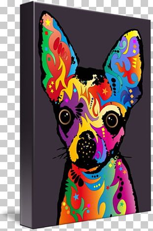 Chihuahua Canvas Print Art Gallery Wrap PNG