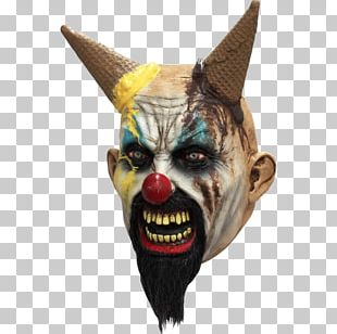 It Evil Clown Mask Halloween Costume Ice Cream PNG