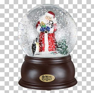 Santa Claus Snow Globes Christmas Ornament PNG