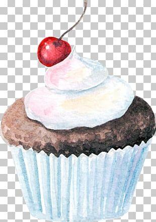 Watercolor Cupcakes PNG