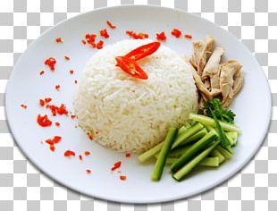 Hainanese Chicken Rice Cooked Rice Jasmine Rice White Rice Basmati PNG