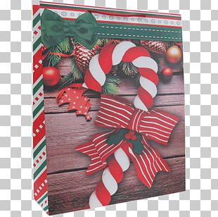 Christmas Ornament Candy Cane Paper Ribbon Bag PNG