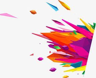 Creative Color Splash Effect PNG