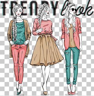 Fashion Model Illustration PNG