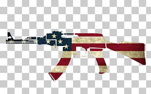 Flag Of The United States Firearm Weapon AK-47 PNG