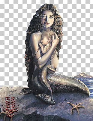 Mermaid Child Mother Legendary Creature Sea Monster PNG