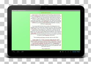 Tablet Computers Handheld Devices Display Device Multimedia Electronics PNG