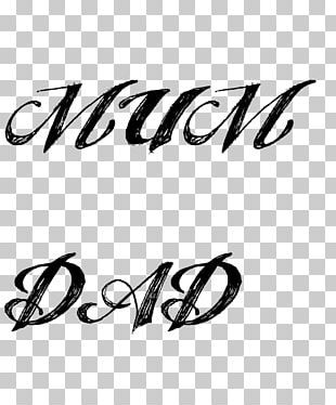 Father Mother Child Font PNG