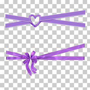 Purple Ribbon Violet PNG