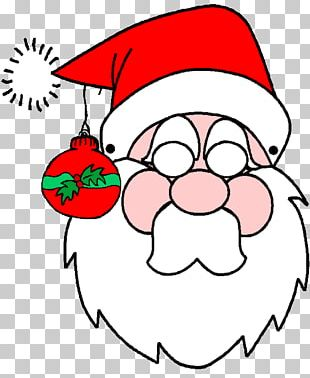Santa Claus Christmas Decoration Mask Rudolph PNG