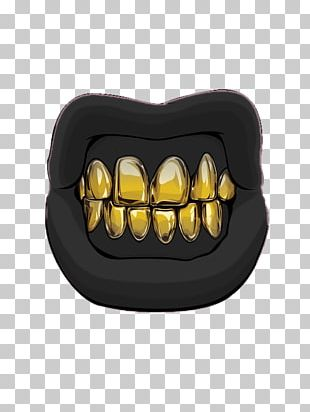 Gold Teeth Mouth Lip PNG