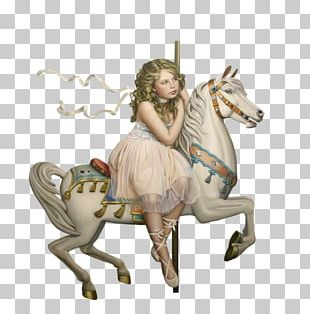 Horse Carousel Alphabet Child PNG