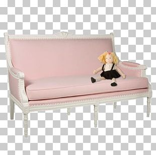 Sofa Bed Couch Pink Furniture PNG