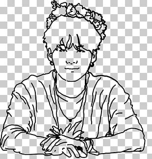 2017 BTS Live Trilogy Episode III: The Wings Tour Coloring Book Black And White Thumb PNG