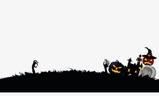Halloween Background Material PNG