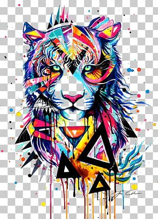 Tiger Watercolor Painting Drawing Illustration PNG