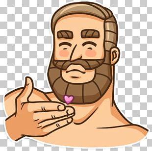 Telegram Sticker Beard Facial Hair PNG