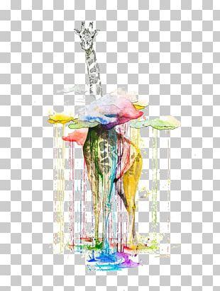 Watercolor Painting Giraffe Artist PNG