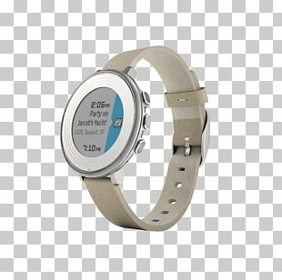 Pebble Time Round Smartwatch PNG