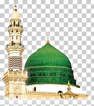 Al-Masjid An-Nabawi Green Dome Mosque PNG