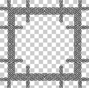 Celtic Knot Frames Ornament Pattern PNG