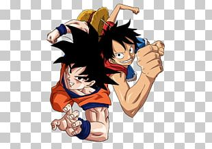 Monkey D. Luffy Goku T-shirt Anime One Piece PNG
