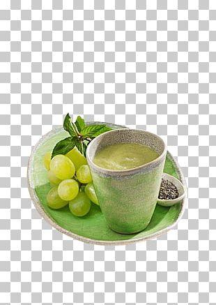 Green Tea Smoothie Grape Fruit PNG
